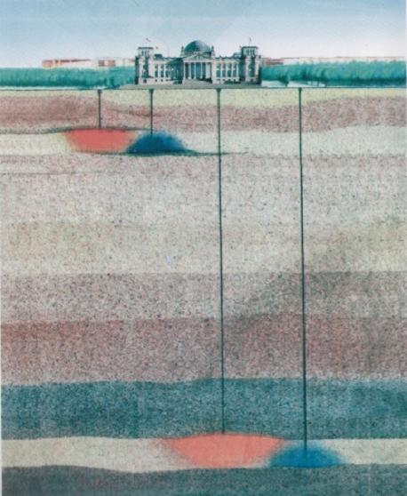 A Bundestag fûtése és hûtése talajszondák segítségével